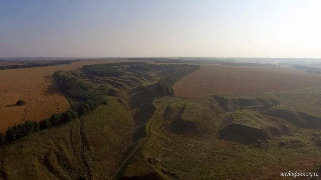 Вид на Черниговские овраги с квадрокоптера