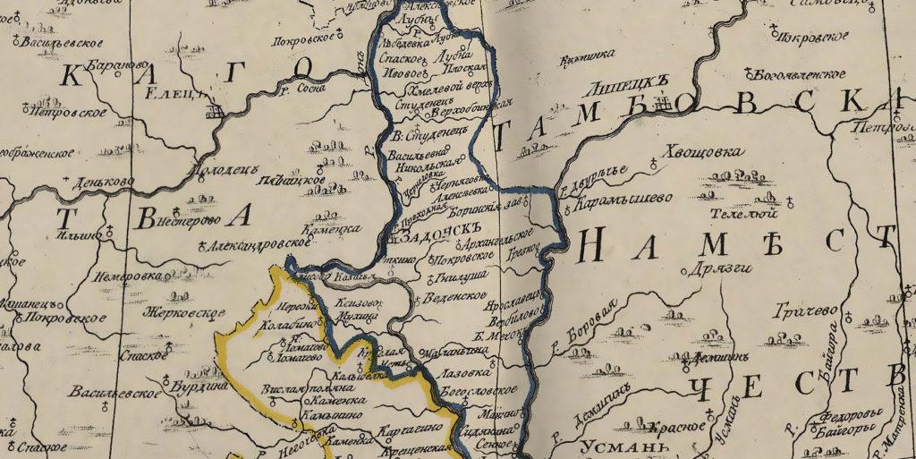 Карта 1792 года