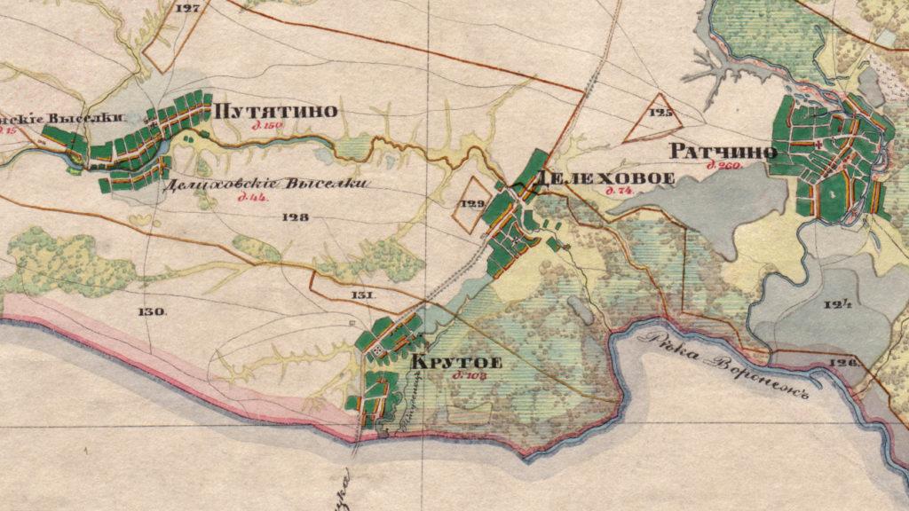 Крутое на старинной карте
