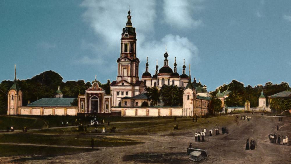 Раненбургский Петропавловский монастырь. Литография